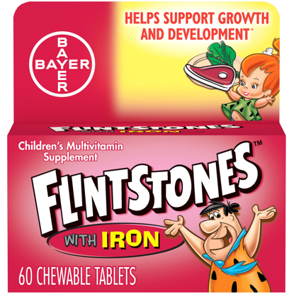 Flintstones Chewable Kids Vitamins w Iron Multivitamin for Kids 60 Ct