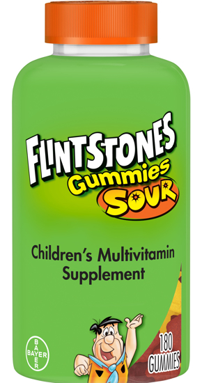 Flintstones Sour Gummies Kids Vitamins Multivitamin for Kids 180 Ct
