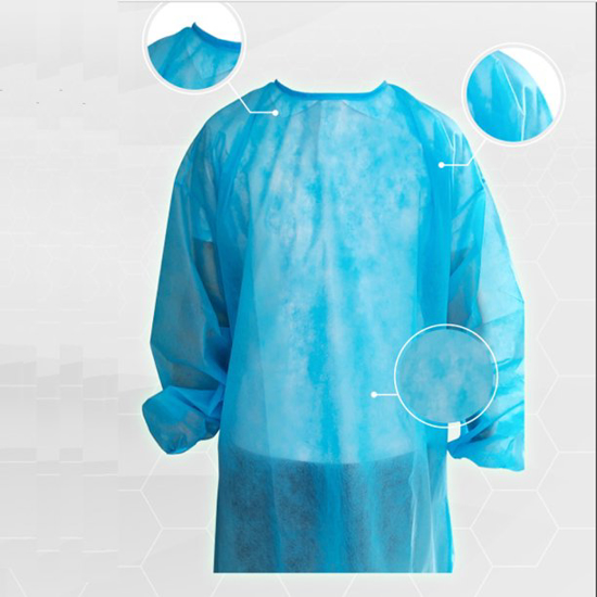 Disposable Surgical Isolation Gowns Non-woven Medical Protective Clothing with Elastic Band