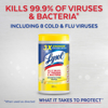 Lysol Disinfecting Wipes Lemon & Lime Blossom 105 ct 3 X 35 ct