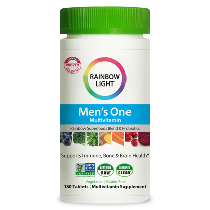 Picture of Rainbow Light Men's One Multivitamin Supplement Netcount (180 Tablets),, 180Count