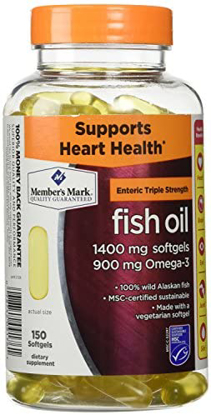 Picture of Member's Mark 1400 mg Triple Strength Fish Oil 150 ct
