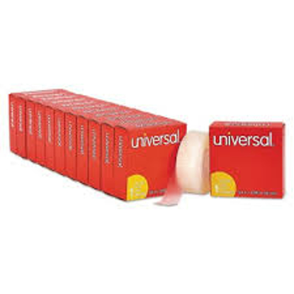 Universal Invisible Tape 1 Core 0.75 x 36 yds Clear 12 Pack