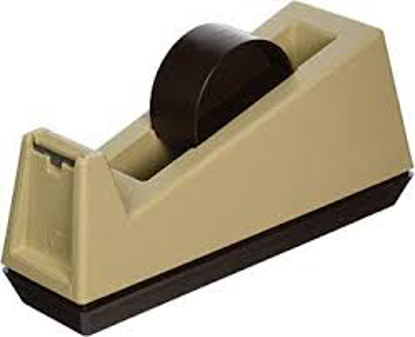 "Scotch Heavy Duty Weighted Desktop Tape Dispenser 3"" Core Plastic Putty Brown"