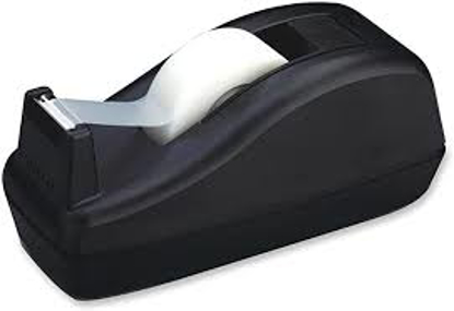 """Scotch Deluxe Desktop Tape Dispenser Attached 1"""" Core Heavily Weighted Black"""