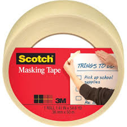 """Scotch Home and Office Masking Tape 1"""" x 50 yds 3 ct"""
