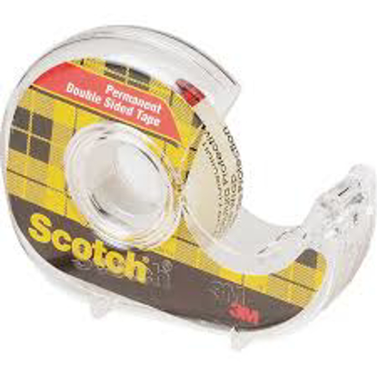 """Scotch Permanent Double Sided Tape with Dispenser 1/2"""" x 500"""" Clear 6 ct"""